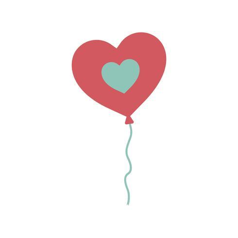Illustratie van een hartvormige ballon
