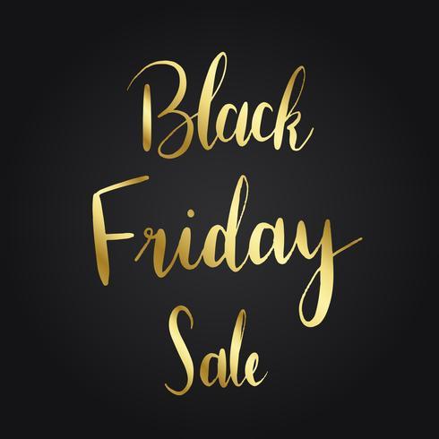 Vector de estilo de tipografía de venta de viernes negro