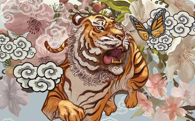 Tigre e farfalla