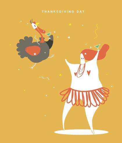 Illustrazione di concetto di mondo giorno del ringraziamento