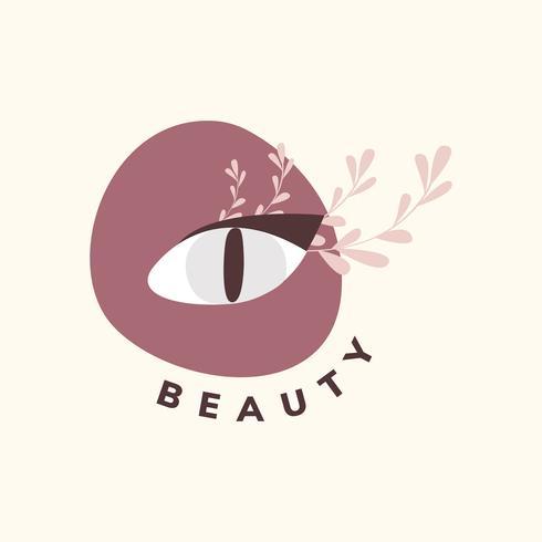Logo de beauté naturelle naturelle