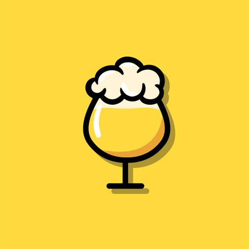 A glass of beer icon illustration