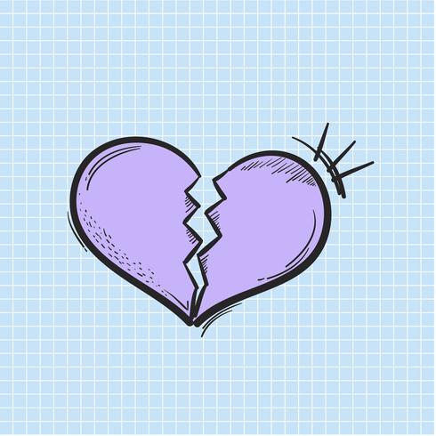 Vettore dell'icona rotta cuore