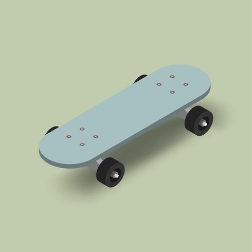 Vector de la imagen del icono de skatebaord