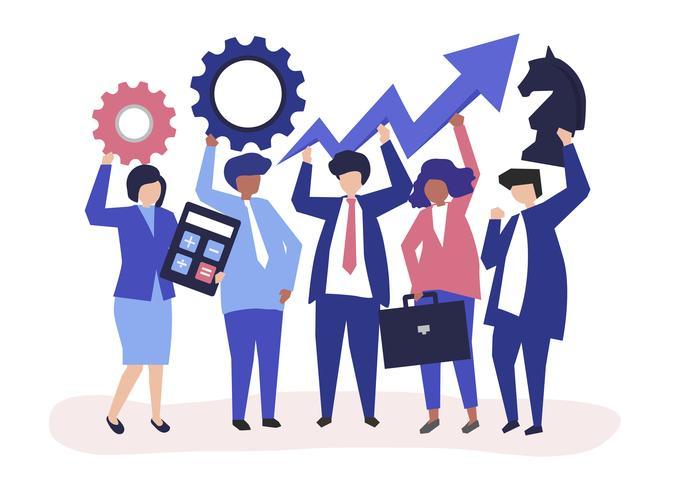Illustration de concept de croissance et de stratégie d'entreprise