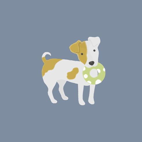 Bonito, ilustração, de, um, macaco, russel, cão