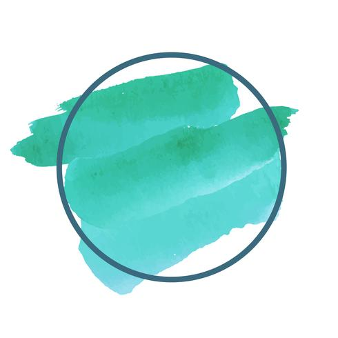 Ronde groene aquarel banner vector