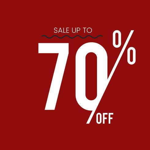 Venta hasta el 70 por ciento de descuento en vector de promoción