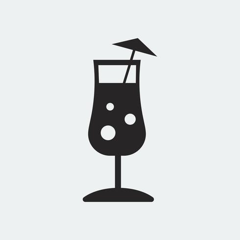 Paraply drink cocktail glas illustration