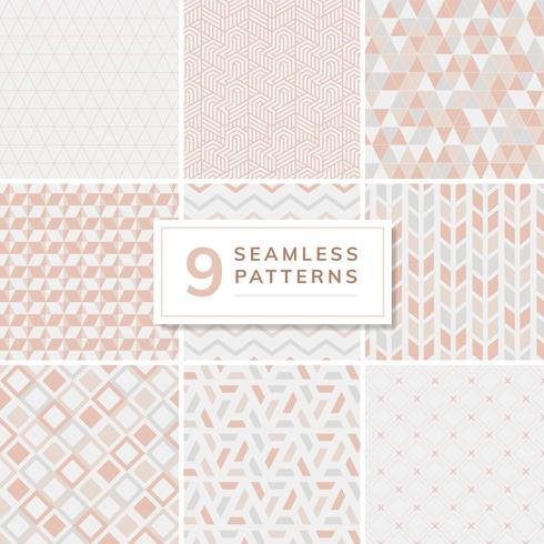 Sammlung von Muster-Vektor-Illustration