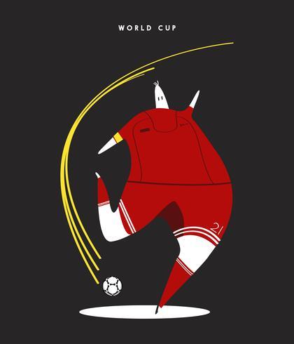 VM-koncept fotbollsspelare illustration