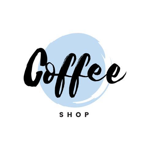 Vecteur de marque logo café-restaurant