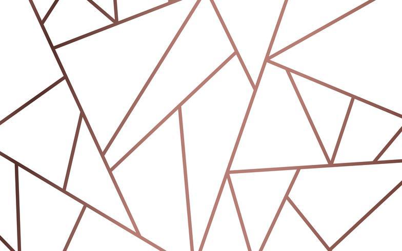 Papel pintado moderno mosaico en oro rosa y blanco