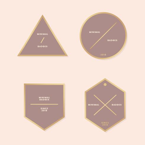 Minimale gouden badgecollectie