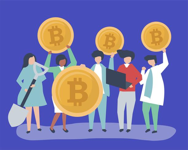 Investitori che investono in bitcoin