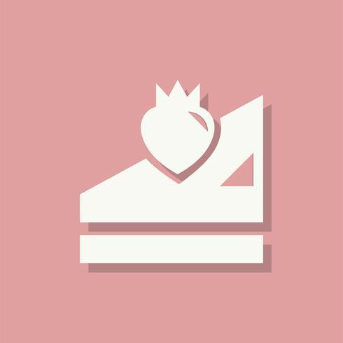 Bolo de morango ícone de dia dos namorados