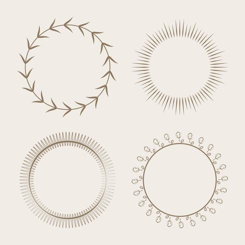 Verzameling van ronde sieraad ontwerp vector