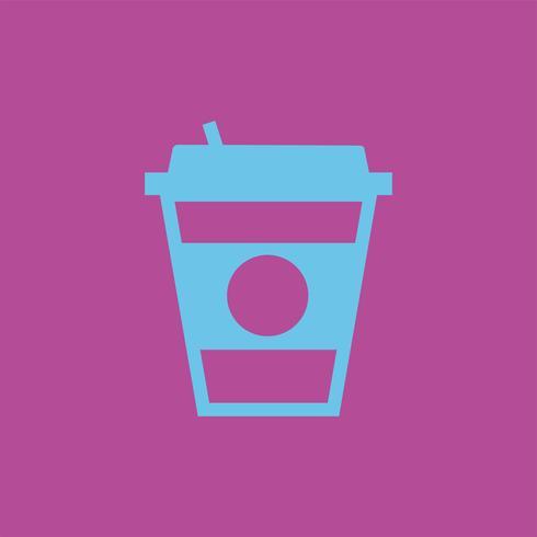Ilustración gráfica de la taza de café para llevar