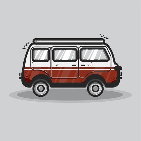 Vintage van transport grafisk illustration