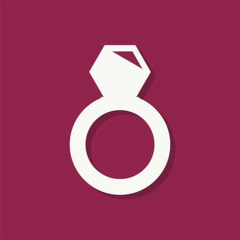 Diamantring Valentinstag-Symbol