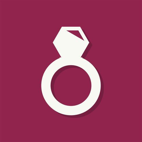 Diamond ring Valentines day icon