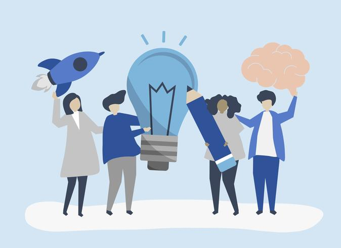 Creatieve zakelijke idee concept illustratie