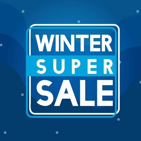 Vecteur d'insigne super vente d'hiver