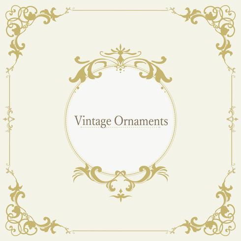 Vetor de quadro de ornamento vintage florescer