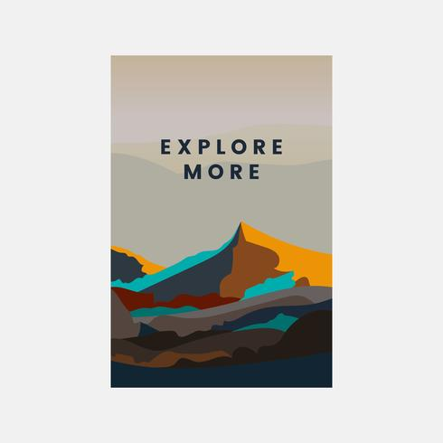 Explorar mais design de paisagem de montanha