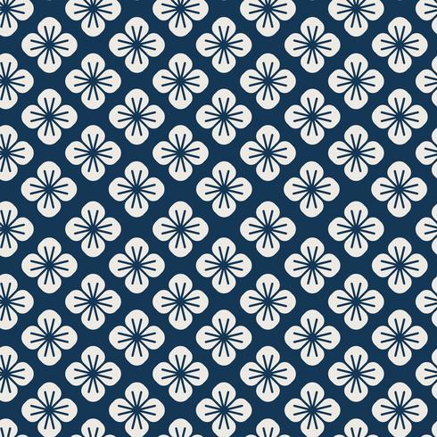 Motif japonais sans couture avec le vecteur motif floral