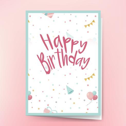 Alles Gute zum Geburtstagskarte Design Vektor