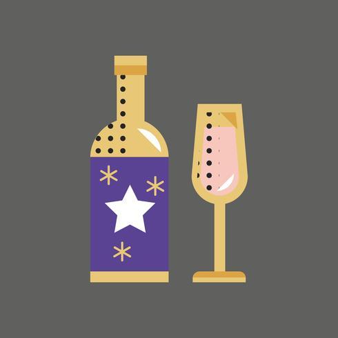 Concepto de evento de celebración de icono de Champagne