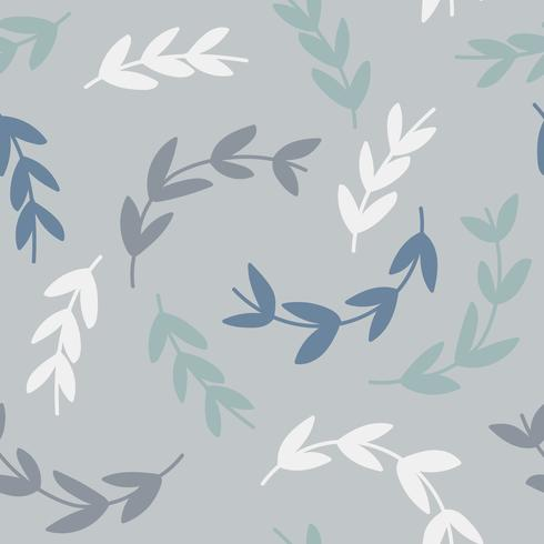 Enkelt mönster av grenar på blå bakgrund