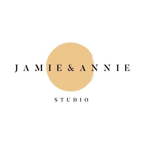 Jamie und Annie Studio-Logo-Vektor