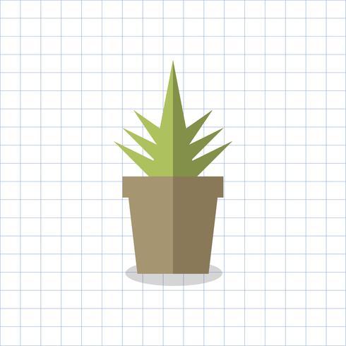 Illustration d'un cactus dans un pot