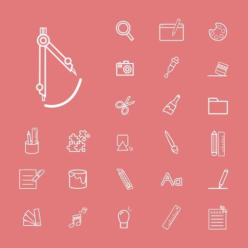 Ilustração do conjunto de ícones de educação