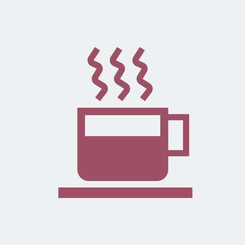 Tasse heiße Kaffeeillustration