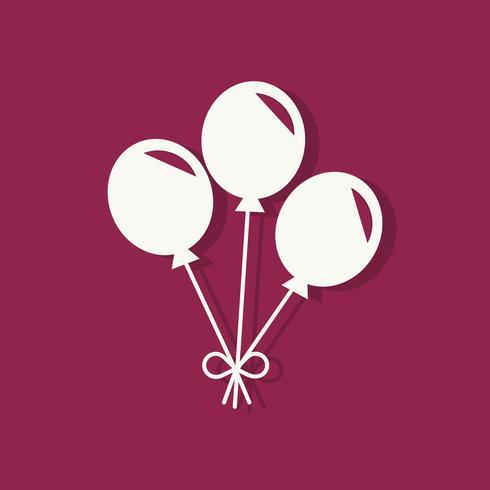 Party Ballons Valentinstag-Symbol