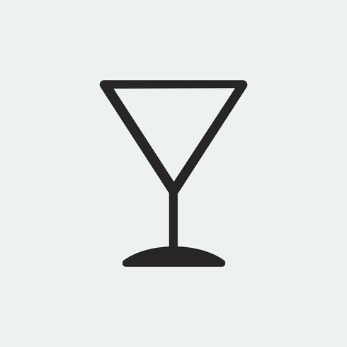 Ilustración de icono de Copa de cóctel de Martini