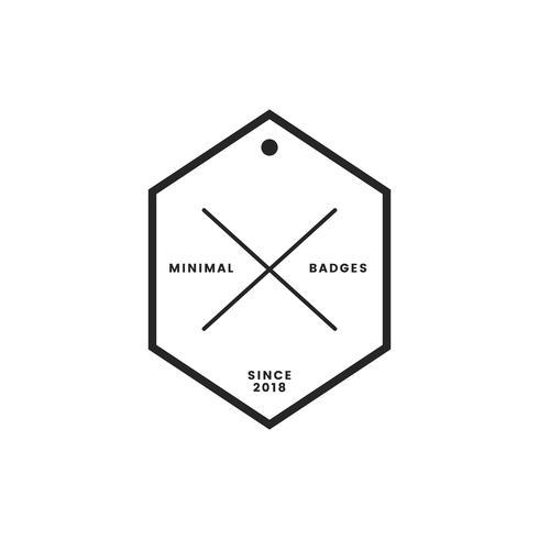 Badge et logo de style minimal