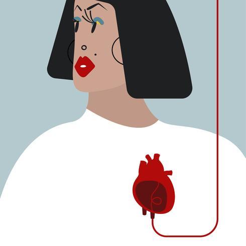 Illustration vectorielle colorée de transfusion sanguine