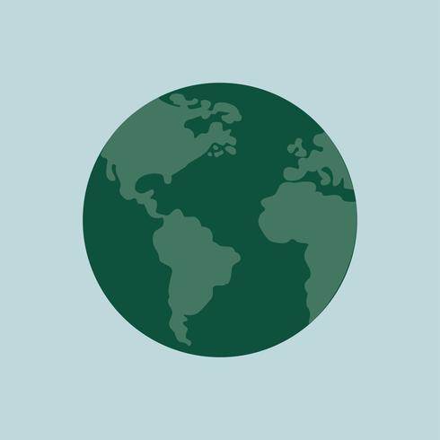 Geïsoleerde groene aardeillustratie