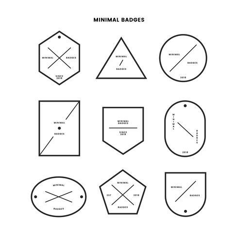 Collection de badges de style minimal
