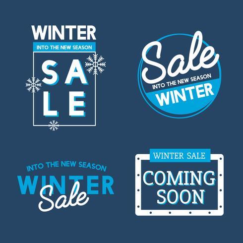 Conjunto de vetores de distintivo de venda de inverno