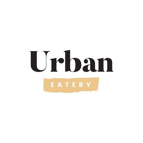 Eenvoudige stedelijke eetzaal logo vector