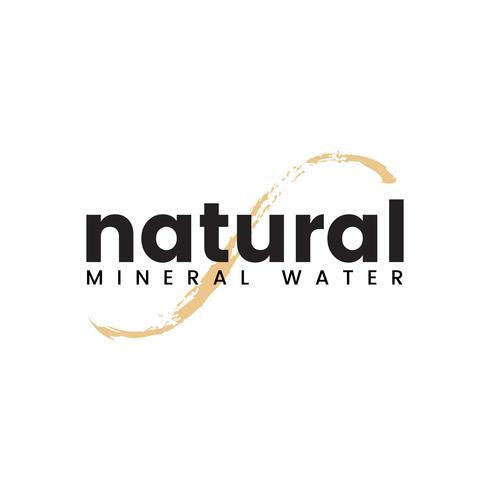 Vecteur de logo eau minérale naturelle