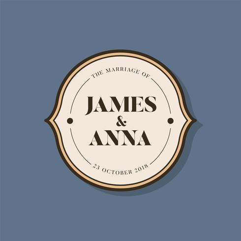 Klassisk stil bröllopsinbjudan emblem