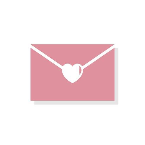 Liefdesbrief Valentijnsdag pictogram