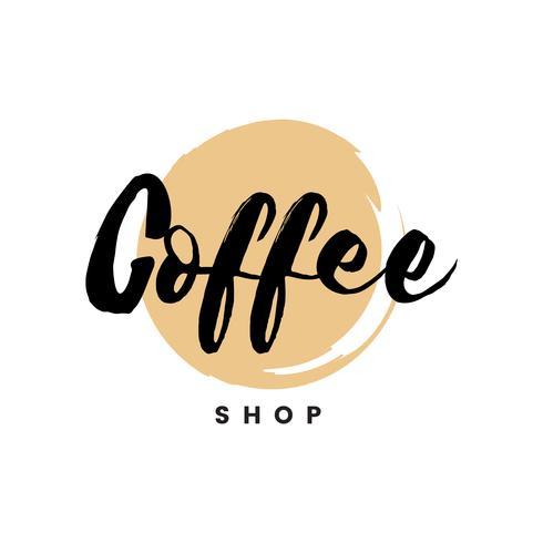 Cafetería logo vector de marca