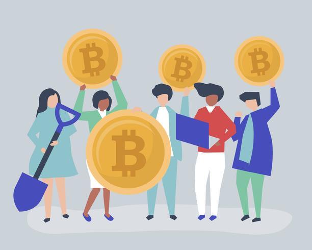 Investoren, die in Bitcoins investieren